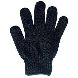 Black exfoliating glove