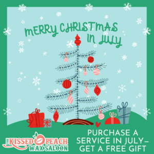 Christmas in July at Kissed Peach Wax Saloon